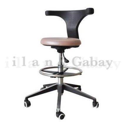 DAN כסא מעבדה יציב בעל חישוק לתמיכת הרגליים