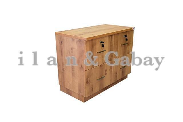 CALANIT ארון תיקיות מעץ עם 4 מגירות