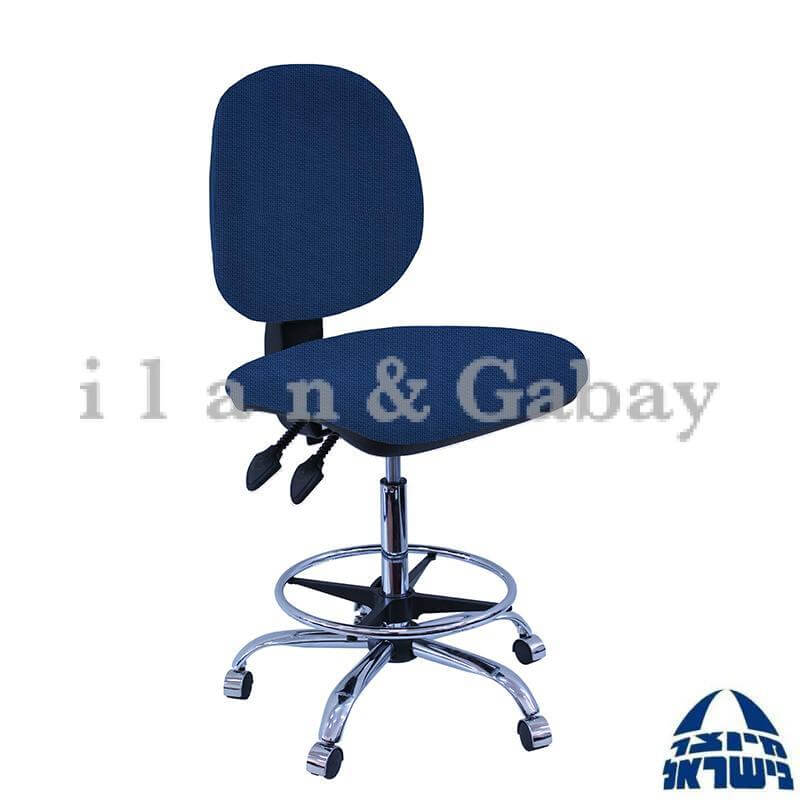 MOR כסא שרטט מרופד עם בסיס חישוק מצופה בניקל