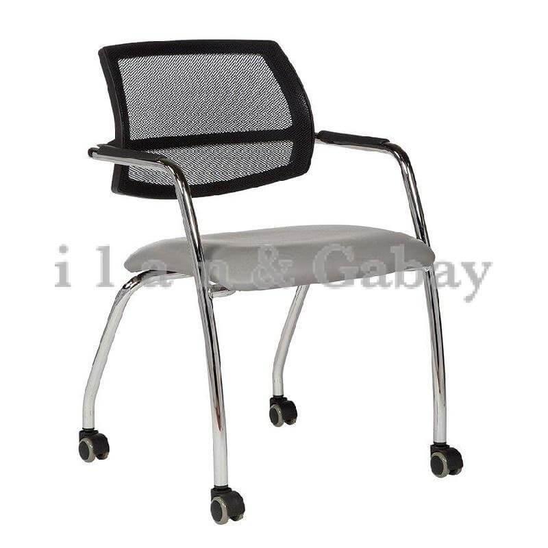 MORIS כסא אורח עם גלגלים