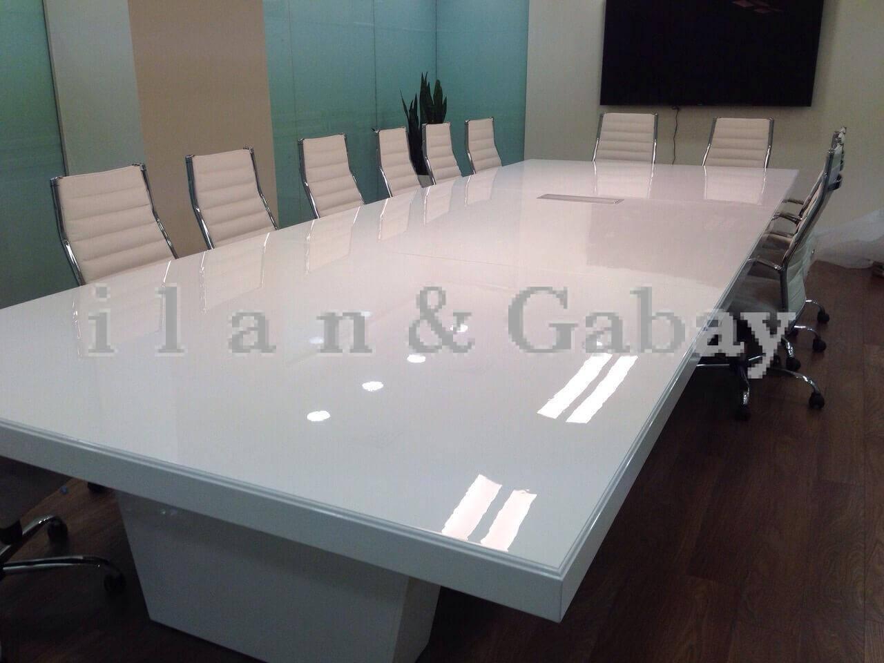 ARMANI שולחן ישיבות לבן 480X160