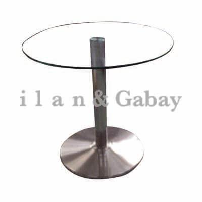 שולחן ישיבות זכוכית  עגול קוטר 80