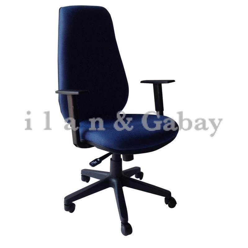 LIAD כסא מזכירה עם גב ארוך למשרד