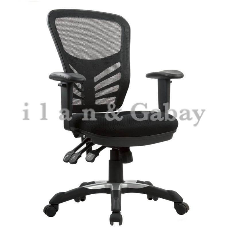 NOFAR כסא מזכירה כולל ידיות מתכוננות
