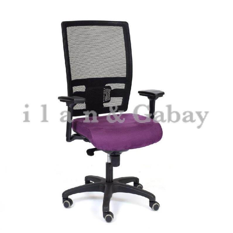 DIN כסא מזכירה עם ידיות מתכווננות