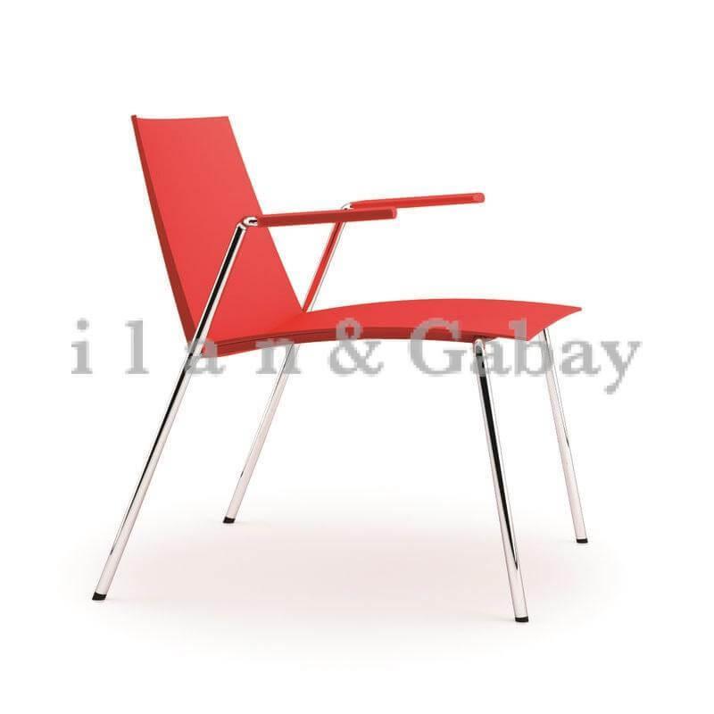 HEZI כסא אורח עם ידיות