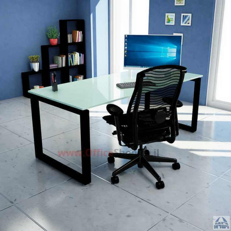 YAALOM שולחן עבודה-זכוכית